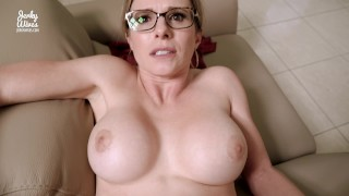 Hot Step Mom is Stuck to the Couch - Cory Chase