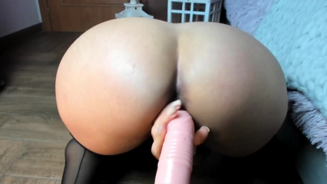 Brunette big ass ebony latina convinces roomate to JOI and she fucks her ass and wet pussy to squirt