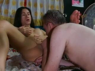Caucasian white faggot gets the semen and ladyboy...