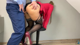 Clip Business meeting break - secretary rides boss and gets juicy creampie and salary increase as reward