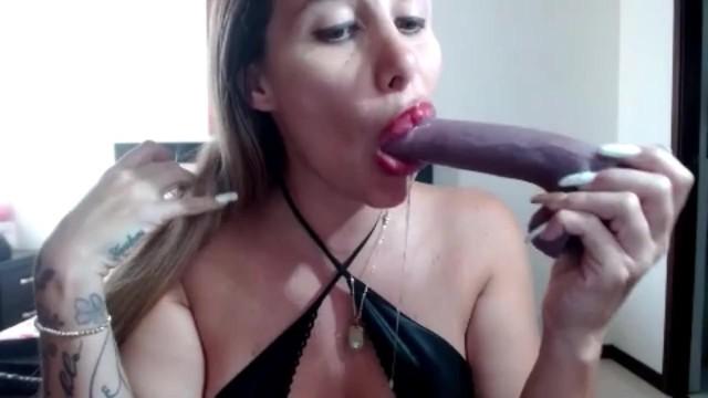 Sloppy Dildo Throat Fuck 19