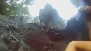 VAGINA FALL public FLASH and PEE #Tourist atraction Waterfall in Jungle