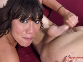 NAUGHTY BIG TIT COUG Ava Devine RIMS BIG DICK DUDE then FINISHES HIM OFF for a CUM SOAKED FACE!