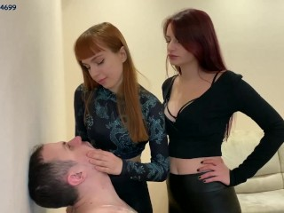 Spittoon Slave For Two Mistress - Double Spitting Humiliation Femdom [PREVIEW]