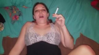 Hot Milf enjoys smoking while shes taken care of from behind