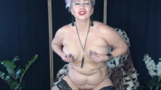 Amazing adventures of big plastic bottles in skilled mature cunt. Hot russian mommy AimeeParadise.!.