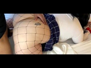 Horny college student hard doggystyle by black guy...