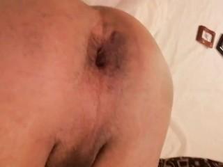 Close up quick ass fuck with huge dildo...