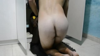 Black girl play to be my step sister so we fuck rough sex. I am step brother