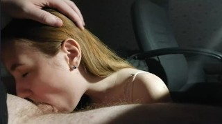submissive dick sucking, deep blowjob, oral creampie - Sunako_Kirishiki