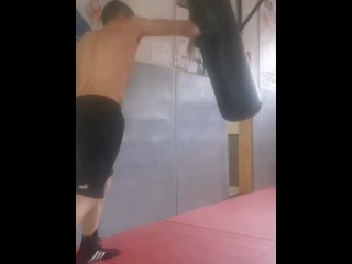 Boxing the heavy bag real life and straight...