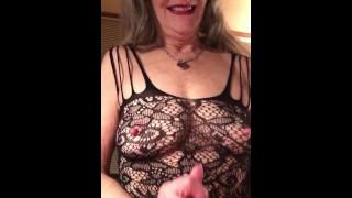 Hot Cougar Granny Loves To Suck! Eye Contact POV BJ With Deepthroat Throat Fuck