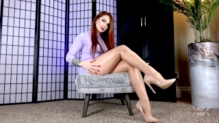 Weak For Wolford Pantyhose 2: Tease & Drain Free Preview