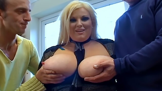 Thick and busty Kirstyn Halborg gets double penetrated