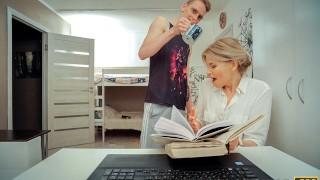 TUTOR4K. Cunning disciple uses tea to seduce and fuck experienced tutor