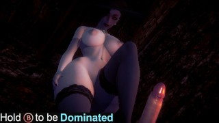 Dominated by Tall Lady Dimitrescu(3D PORN)|Resident Evil Village