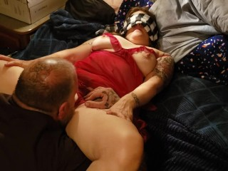 Cream pie finish dripping from her hole
