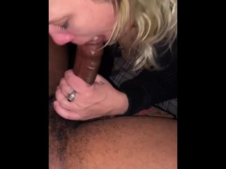 Big black dick makes her throw up then...