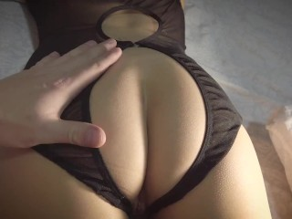 He got excited from lingerie stroked climbed into...