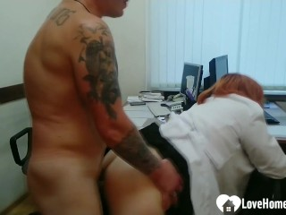 BBW gets pounded hard by a tattooed lad