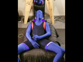 Huge fucking cum all over my zentai and...