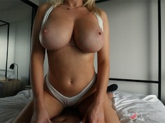 Getting fucked in my white bikini after the beach