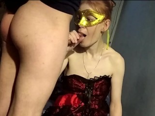 My cuckold husband is filming my lover fucking me. And gets a sweet kiss with cum.