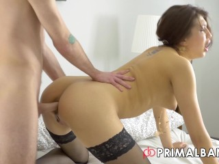 Lingerie anal slim stockings ass 4k anal by...