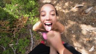 sloppy public pov blowjob in the mountains – teen porn