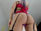 student in cute lingerie dances sensually and sticks a dildo in her rich tight vagina to orgasm