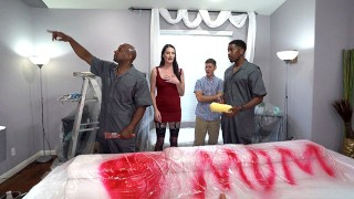 Painters With Big Black Cock Pound Horny Mom Aria Khaide In Front Of Her Stepson