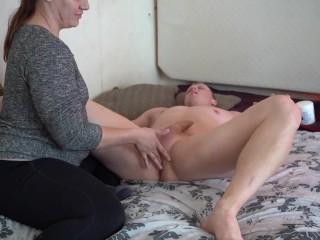Babe gives creampie makes him cum so hard...