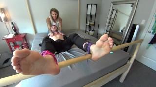 Gwen Ties & Tickles her Assistants SUPER Ticklish Feet! 1080p HD PREVIEW