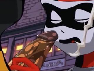 Dc blowjob cumshot harley quinn licks batman penis...