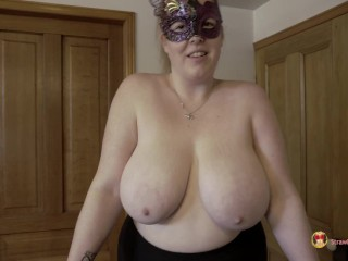 Topless running with 36j breasts...