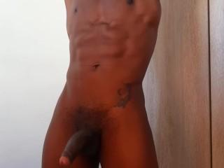 Guy sexy handjob with t shirt...