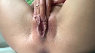 DRIPPING WET PUSSY ORGASM AND WINKING ASSHOLE   LaraJuicy
