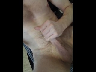 Wringing every drop of cum out of my cock while in the office