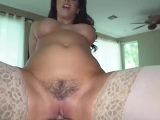 busty stepmom catches panty sniffing stepson & takes anal pounding