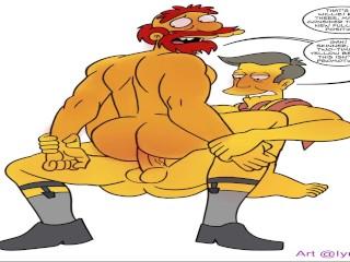 The simpsons straight friends joking around straight gay...