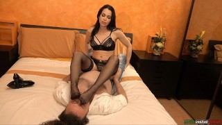 Jessy Jey First Time With Gabriel Galli French Kisses And Foot Domination Latin Porno Star Femdom