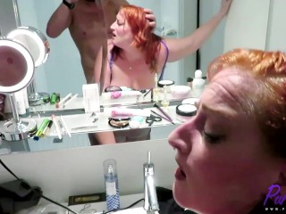 Sex in front of a mirror with dawna...