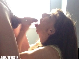 Sexy Granny Sucks The Cum Out Of A Thick Cock
