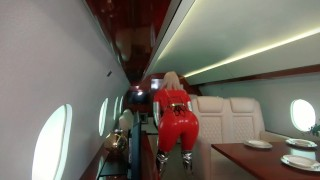 Backstage from photosession, 4 catsuits and fly jet photoshoot