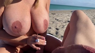 Fucking and playing at the nude beach