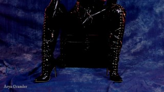 Hot Latex Rubber Queen Arya Grander 4k Video