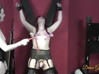 Tits pussy for bondage sub girl...