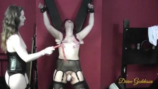 Tits, Pussy & Clit Torture For Bondage Sub Girl