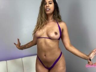 Latina in skimpy bikini armpit 4k selenaryan...