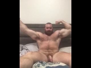 Norton beefy hung bodybuilder musclebear flexing alpha bull...